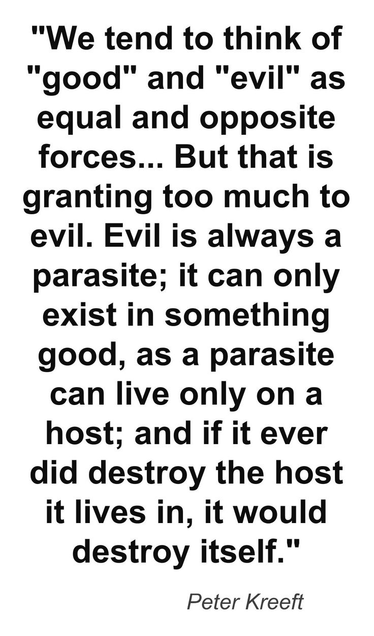 Good vs Evil Peter Kreeft