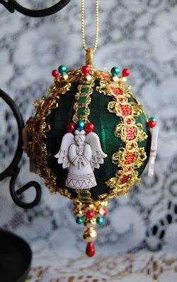 Only the highest quality ribbons, lace, fabrics, beads and trim are used by the crafters of these original designs. Our Designer Victorian Ornaments measure 3 inches in diameter. Most of the ornaments