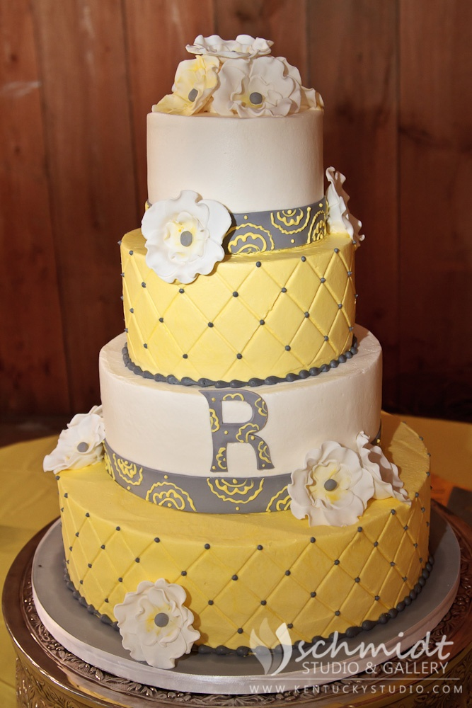 gray weddings grey and yellow wedding gray and yellow wedding cakes