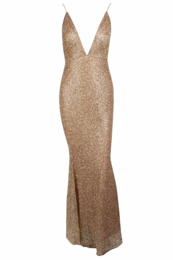 Honey Couture THESSY Gold Mermaid Sequin Formal Gown Dress Honey Couture  One Honey Boutique AfterPay ZipPay 87a66423c
