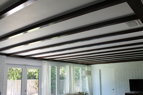 Exposed Beam Ceiling Before and After - Directions Not Included