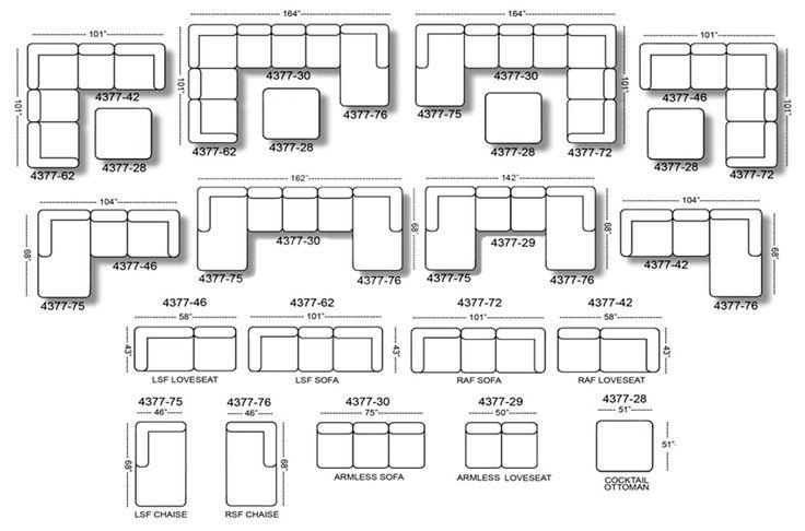 Everest Customizable Sectional Sofa Set B - Jackson Furniture
