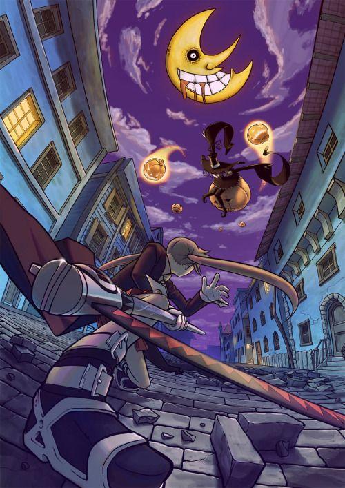 animecorecollection:  Soul Eater - Maka vs Blair by yoshiyaki