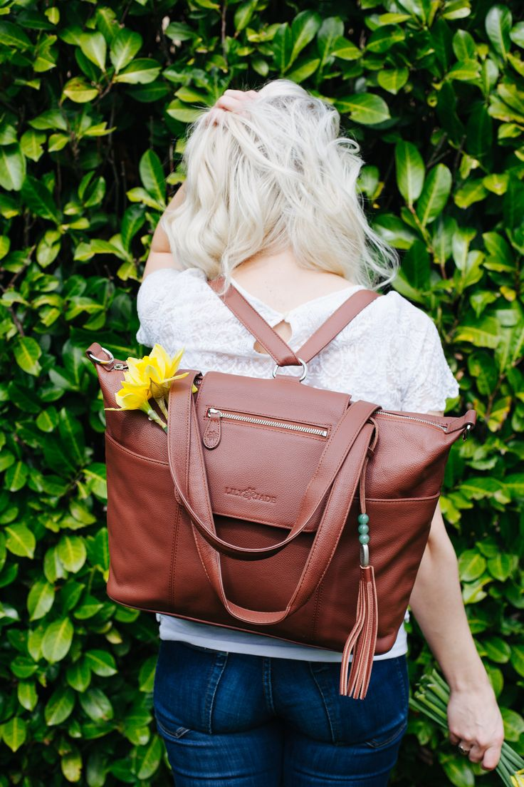 Lily Jade Diaper Bags = Hands free + Hearts full (Premium leather, backpack convertible) Click to find yours today!