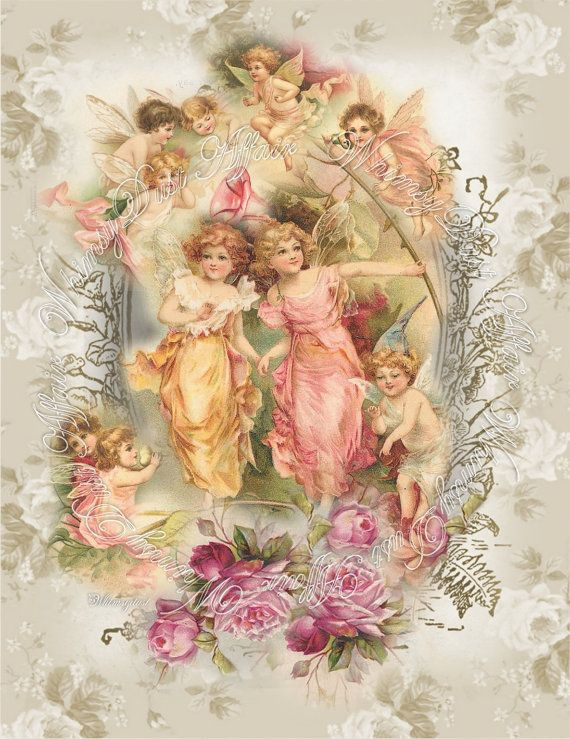 Digital collage sheet vintage Imaginations sheet 6 by . ..♥.Nims.♥