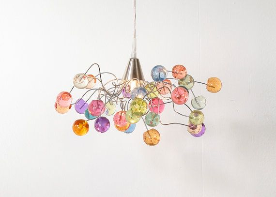 Ceiling light. Pastel color bubbles. by yehudalight on Etsy