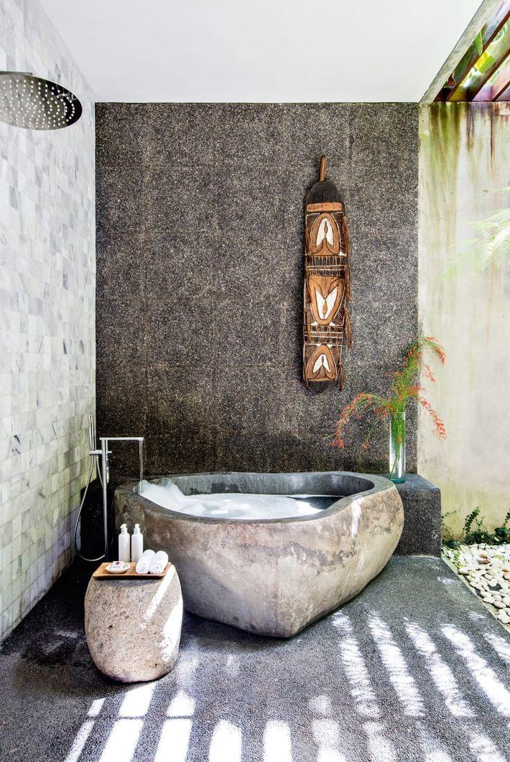 Ian Chee Baut Ein Ferienhaus Auf Bali Badezimmer Auf Badezimmer Bali Baut Chee Ein Ferienhaus Ian Ferienhaus Badewanne Im Freien Bali