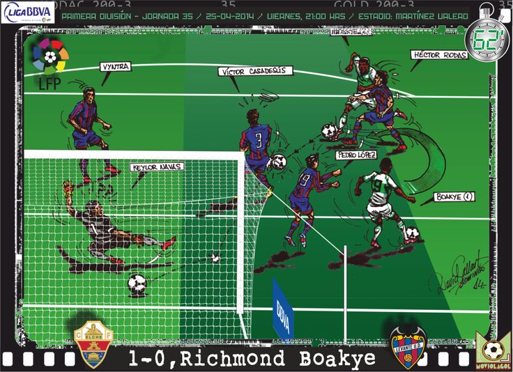 Elche CF, 1 - Levante UD, 1 - Richmond Boakye, 1-0, min.62'