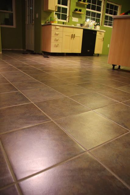 DIY: Luxury Vinyl Tile, Peel And Stick AND Groutable.