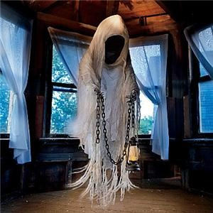 LIFE SIZE HANGING FACELESS GHOST GHOUL HALLOWEEN Yard Prop Decor Display NEW   eBay