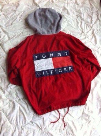 jacket tommy hilfiger tommy hilfiger jacket vintage red hot hoodie white blue jumper sweater burgundy shirt red jacket