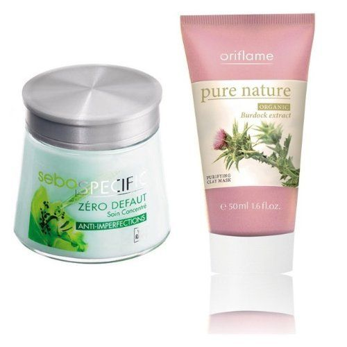 Yves Rocher FRANCE 2-piece Set: Sebo Specific Zero Blemish Cream Face Refining Care, 1.7 fl oz jar (Oily Skin). Refines Skin Structure & Pure Nature Organic Burdock Extract Purifying Clay Mask for Normal-Mixture Skin Type). FRANCE-IMPORTED-Available 02/15/2013 by yves Rocher FRANCE. Save 24 Off!. $68.75. New Original Yves Rocher FRANCE 2-piece Set: Sebo Specific Zero Blemish Cream  Face Refining Care, 1.7 fl oz jar  (Oily Skin). Refines Skin Structure & Pure Nature Organic Burdock Extra...