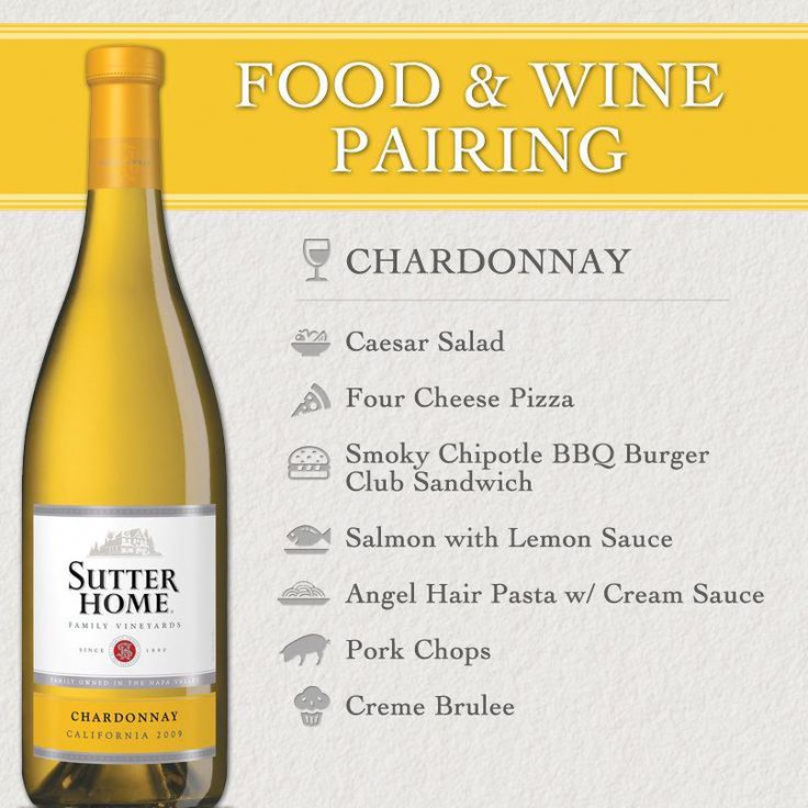 Sutter Home Wine Amp Food Pairing Quick Reference With