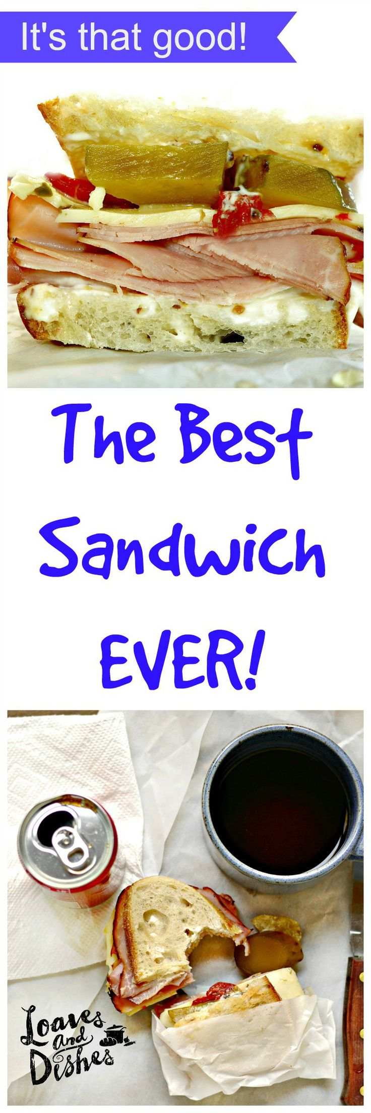 I KNOW you want a recipe for the BEST Sandwich EVER!  Complete obsession found right here www.loavesanddishes.net