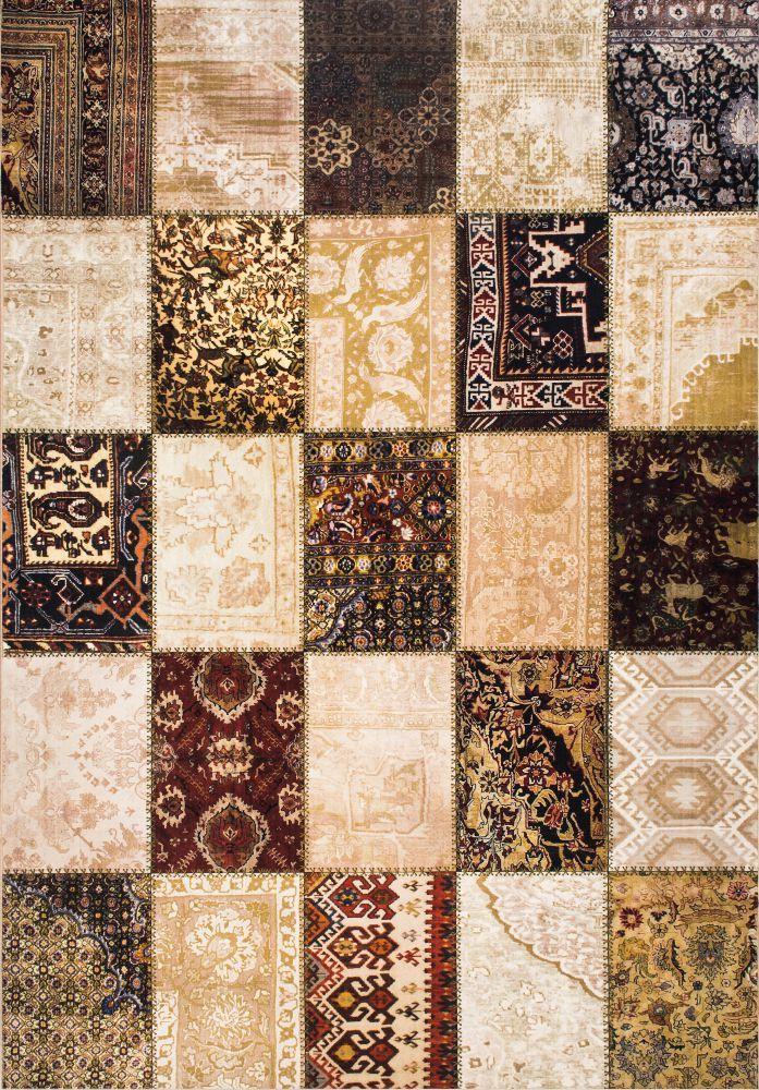 خرید فرش مدرن تکه دوزی کلاریس ۱۰۰۲۲۰ تمام رنگ Modern Carpet Carpet Color