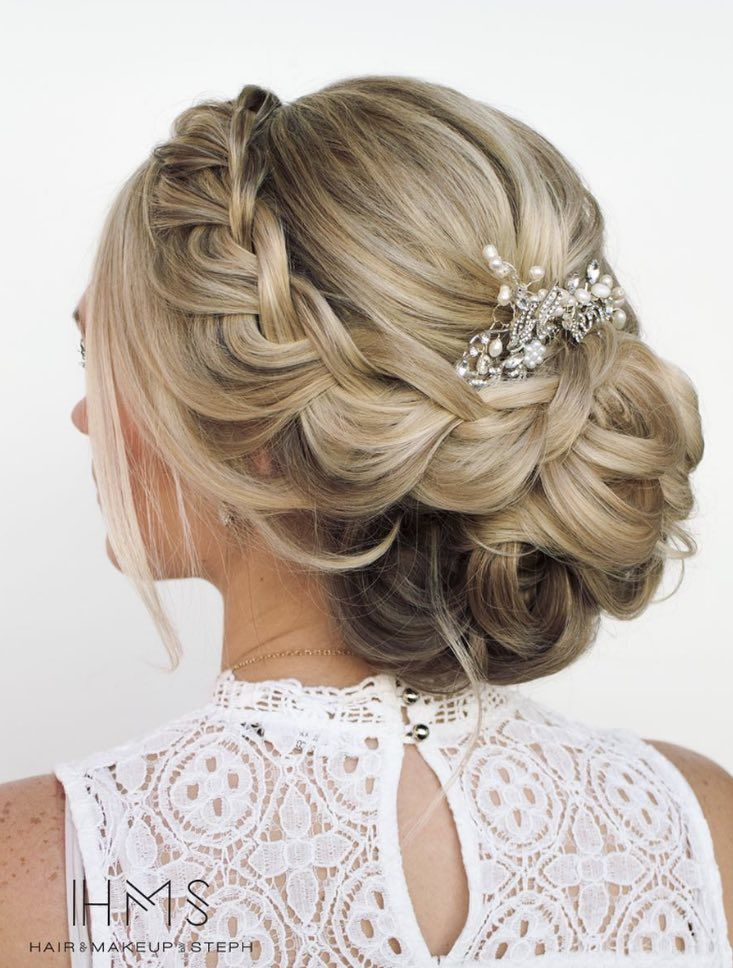 Featured Hairstyle: Hair and Makeup by Steph (Stephanie Brinkerhoff); www.hairandmakeupbysteph.com; Wedding hairstyle idea.