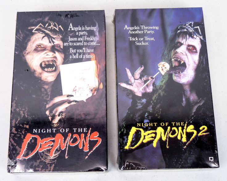 NEW SEALED Night of the Demons 1 & 2 VHS Tapes Rare NOS ...