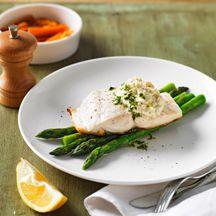 Crispy skin fish with artichoke puree
