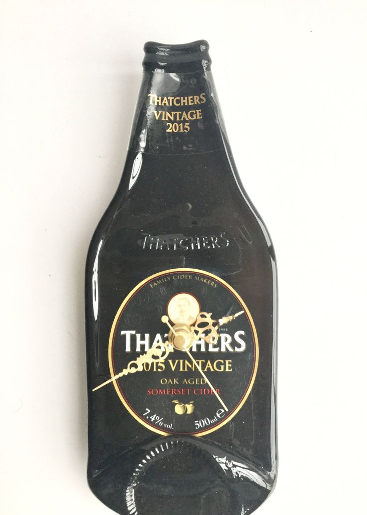 Thatchers vintage 2015 Somerset cider bottle clock by causewaybay on Etsy
