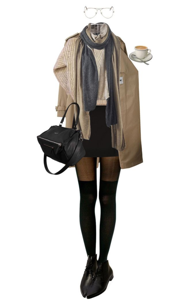 """#715"" by brownloveh ❤ liked on Polyvore featuring Acne Studios, Pretty Polly, New Look, Étoile Isabel Marant, Ray-Ban and Givenchy"