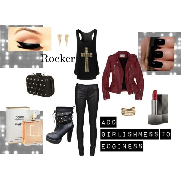 """""""Rocker Chic"""" look"""