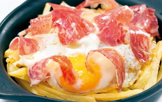 #Lizarran #raciones Huevos Rotos con Jamón