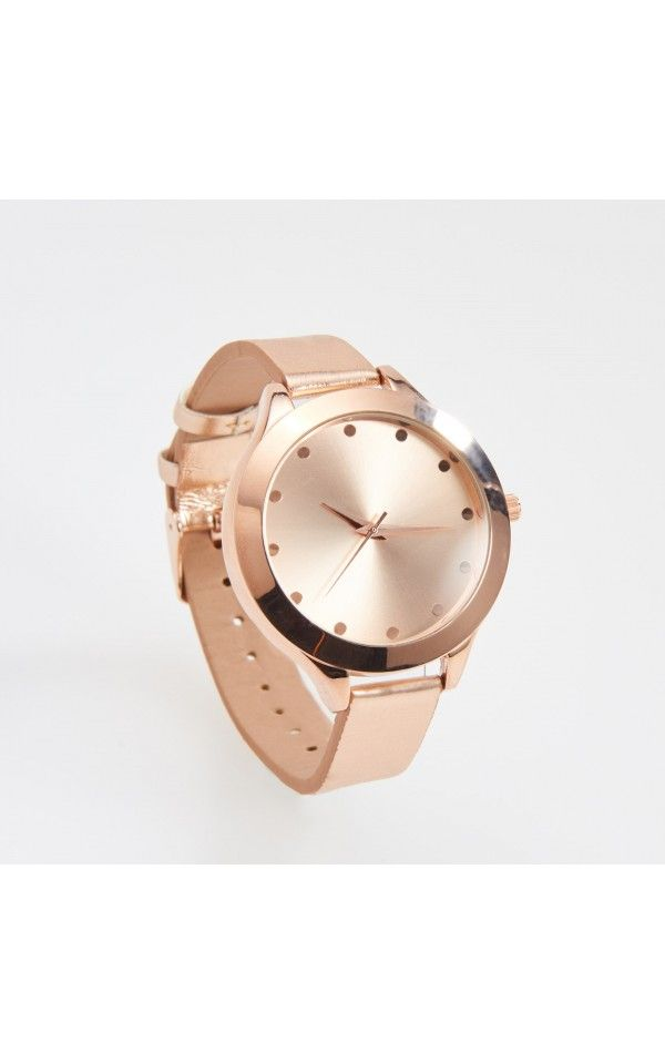 Pink gold watch, NEW COLLECTION SK 16, pink, RESERVED
