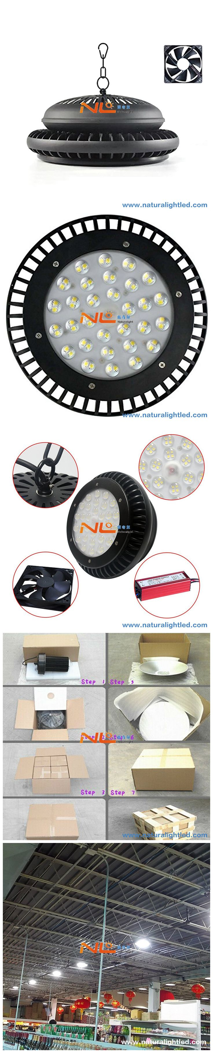 100W High Bay UFO Lights Ultra Efficient 100-130 Lumens Warehouse LED Lights Retail LED Lights Super Bright Commercial Lighting