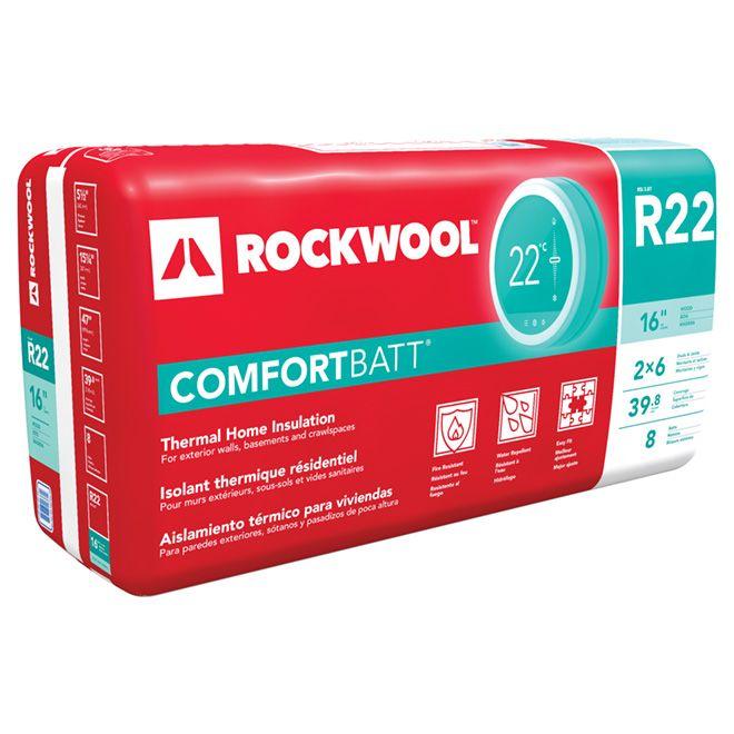 Rockwool R22 Comfortbatt Insulation 196252 Rona Wool Insulation Insulation Home Insulation
