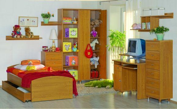 Sestava dětského pokoje City uvádíme jako příklad jedné z mnoha sestav. Jednotlivé díly lze vybrat každý zvláš'ť.