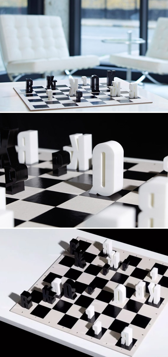 Chess Game Using Typography   Hat Trick Design