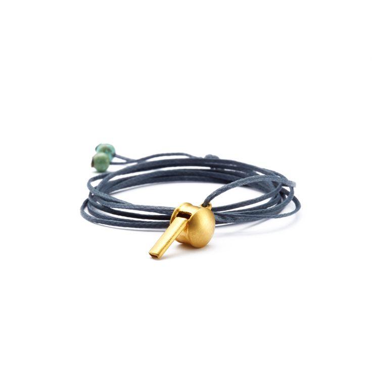 Gold whistle necklace! www.apriati.com