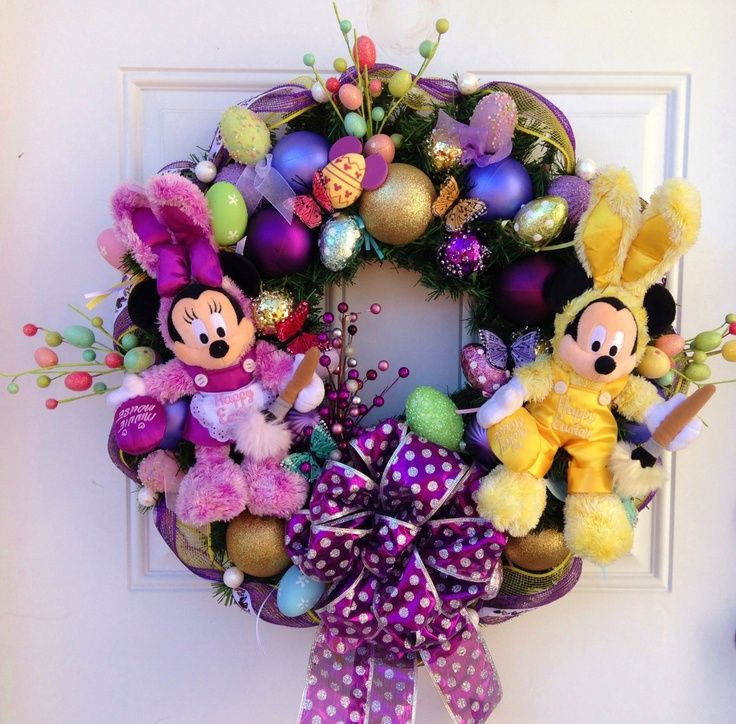 Disney Easter Wreath - without the Disney!