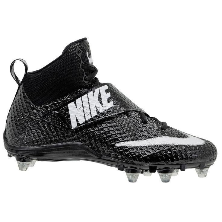 New Nike Lunarbeast Pro Mid D Mens Football Cleats w/ Detachable Studs : Black
