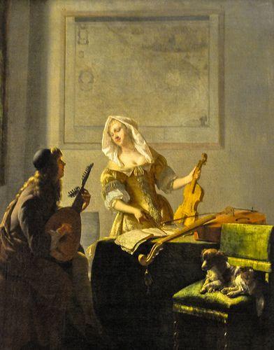 Jacob Ochtervelt - The Music Lesson, 1671 at Art Institute…   Flickr