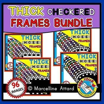 50% OFF-#THICK #CHECKERED #FRAMES #MEGA #BUNDLE- 8 PRODUCTS (96 #IMAGES) #CLIPART THIS BUNDLE CONTAINS 8 PRODUCTS: THICK RECTANGLE CHECKERED FRAMES WITH WHITE FILL, THICK RECTANGLE CHECKERED FRAMES WITH BLACK FILL, THICK OVAL CHECKERED FRAMES WITH WHITE FILL, THICK OVAL CHECKERED FRAMES WITH BLACK FILL, THICK SQUARE CHECKERED FRAMES WITH WHITE FILL, THICK SQUARE CHECKERED FRAMES WITH BLACK FILL, THICK CIRCLE CHECKERED FRAMES WITH WHITE FILL & THICK CIRCLE CHECKERED FRAMES...