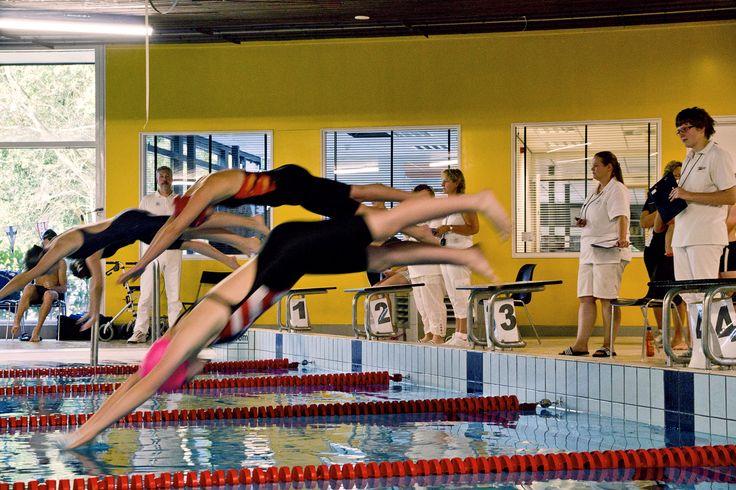 wedstrijdzwemmen zwembad Haren Groningen