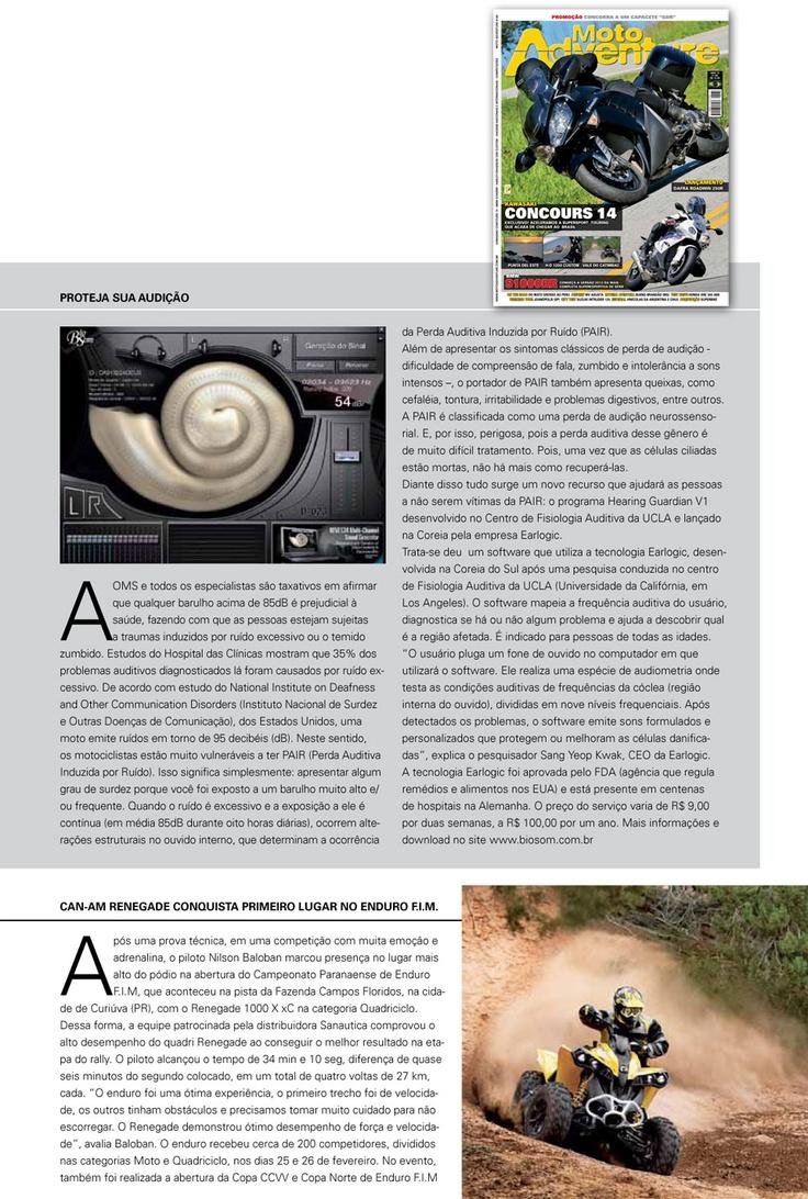 BioSom na revista #MotoAdventure