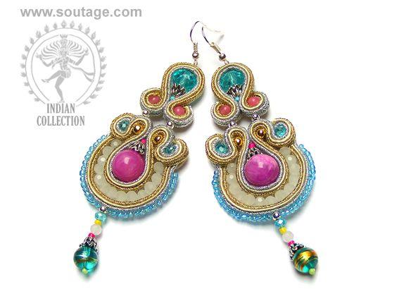 Brahma earrings - Sutasz-Anka http://www.soutage.com/2013/05/brahma-kolczyki.html