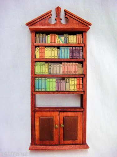 Vintage-Dollhouse-Furniture-Wooden-Bookcase-Shelf-8-Tall, just got this off ebay, it must be Tynietoy.