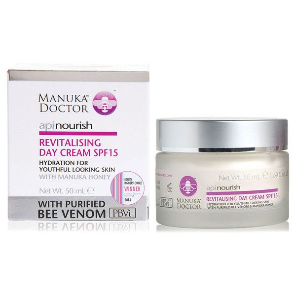 Manuka Doctor ApiNourish Revitalising Day Cream SPF15 50ml ($36) ❤ liked on Polyvore featuring beauty products, skincare, face care, face moisturizers, manuka and dry skin face moisturizer