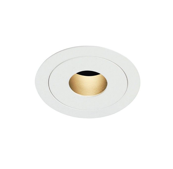 5-year warranty . Part of our Eeny, Meeny, Miny, Mo series. This diminutive low glare downlight provides a narrow beam.