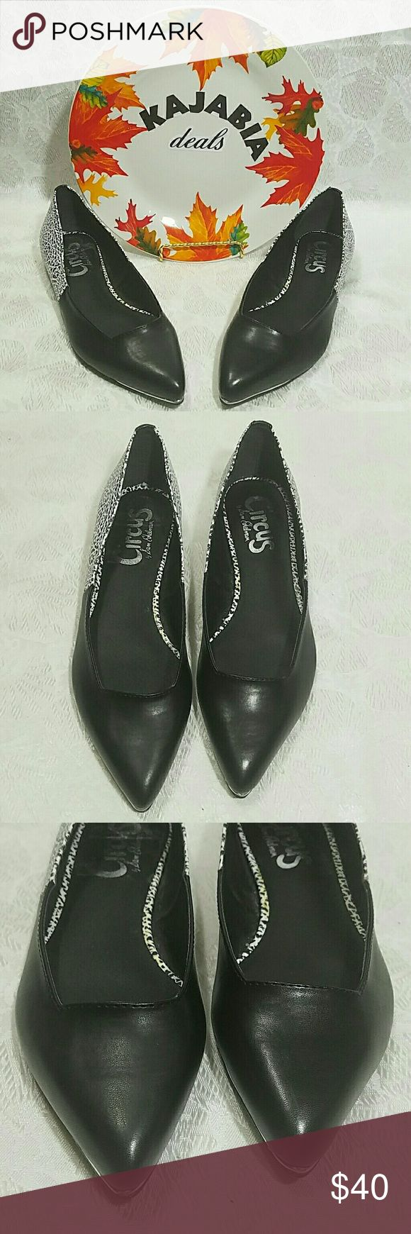 Circus by Sam Edleman Flats. Size 7 Circus by Sam Edelman Flats. Size 7. Pre owned. In excellelent condition. Black and white. Goes with everything. Comfortable to wear all day. Very pretty !! Circus by Sam Edelman Shoes Flats & Loafers