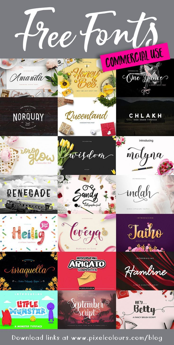 2018 New FREE Fonts for Commercial Use