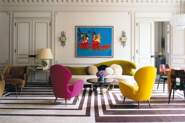 Graphic Rug - Living Room Design Ideas & Pictures - Decorating Ideas (houseandgarden.co.uk)