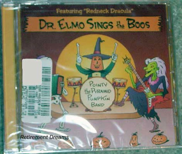 Halloween CD NEW Dr Elmo Sings the Boos Witch Music Pointy Pyramid Pumpkin Band #Christmas