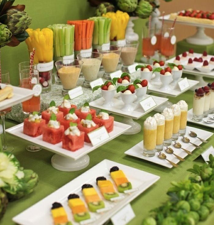 Appetizers For Parties | Summer cocktail party with fresh vegetable and fruit appetizers ...: