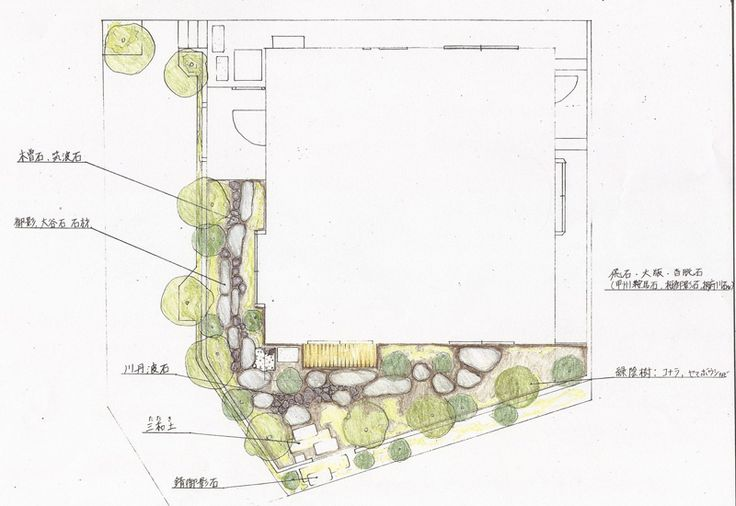 10 best Japanese Garden hand draw images – How To Draw A Site Plan By Hand