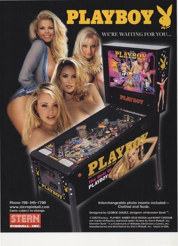 Playboy Pinball Arcade Flyer by Stern Low Shipping The Girls of Free USA SHIP | eBay