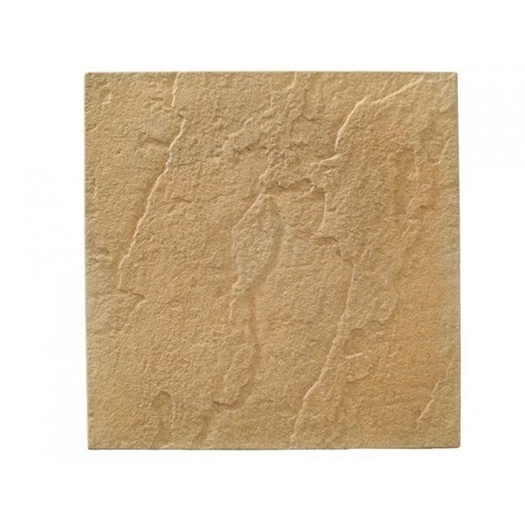 Riven Paving Slabs. Colour Stone (Buff)